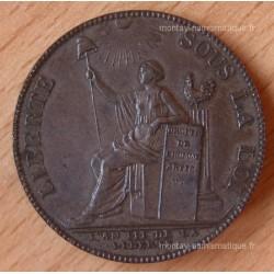 Monneron de 2 Sols à la Liberté 1791