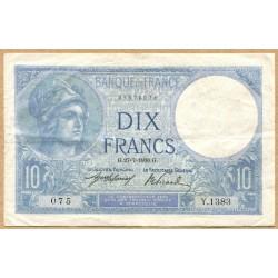 10 Francs Minerve 27-7-1916 Y.1383
