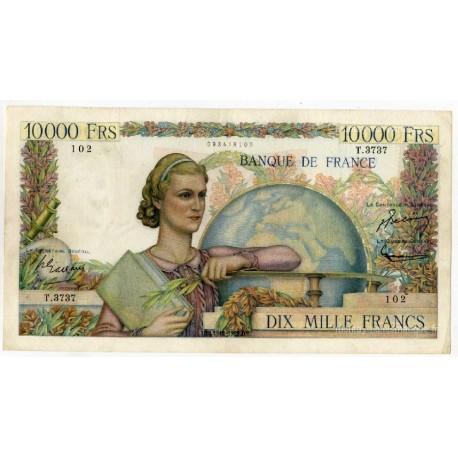 10000 Francs Génie Français 4-12-1952 T.3737