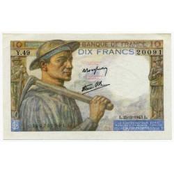 10 Francs Mineur 25-3-1943 Y.49