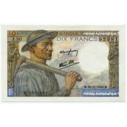 10 Francs Mineur 26-11-1942 J.30