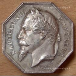 Jeton Napoléon III Notaires de Fontainebleau ND