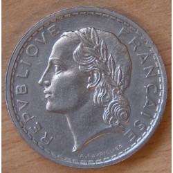 5 Francs Lavrillier Nickel 1937