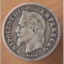 Napoléon III 20 Centimes 1864 A Paris, tête laurée .