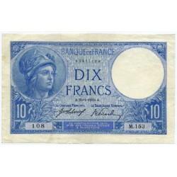 10 Francs Minerve 25-1-1916 M.153