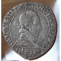 Henri III Franc au col plat 1578 P Dijon