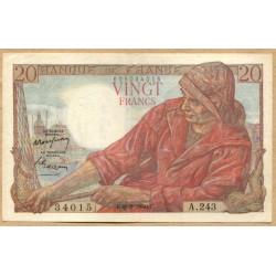 20 Francs Pêcheur 9-2-1950 A.243