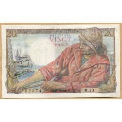 20 Francs Pêcheur 12-2-1942 M.13