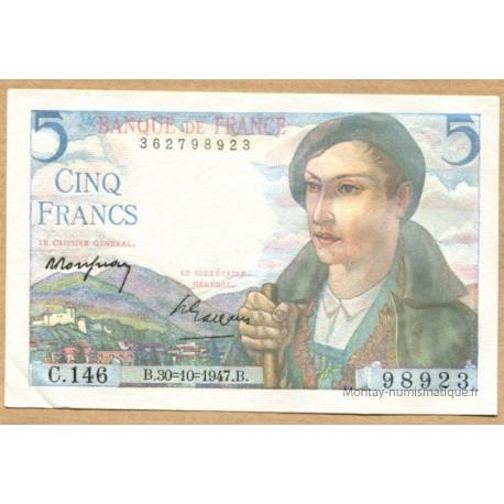 5 Francs Berger 30-10-1947
