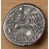 Drachme ou demi-quadrigatus 216-214 AC Rome