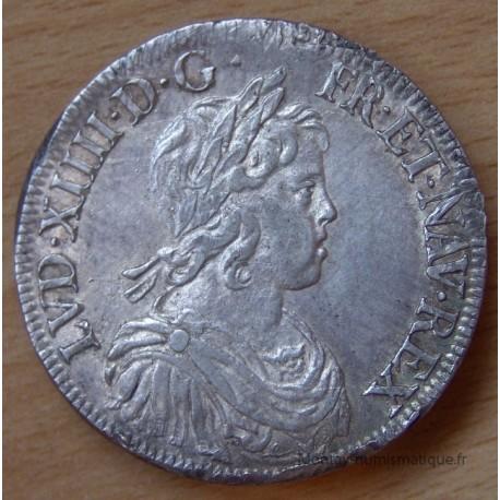 Louis XIV Ecu à la mèche courte 1644 A Paris