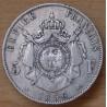 5 Francs Napoléon III Empereur 1856 BB Strasbourg