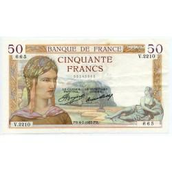50 Francs Cérès 04-7-1935 V.2210