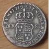 Louis XV 1/6 éme Ecu de France Navarre 1719 Besançon