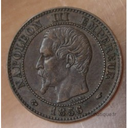 Deux centimes Napoléon III 1856 A Paris