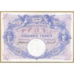 50 Francs bleu et rose 8-8-1918 J.8188
