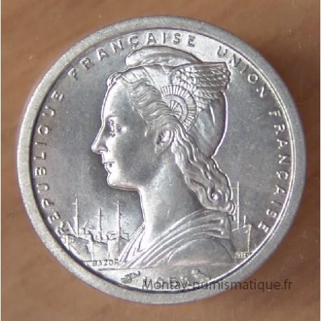 Madagascar 1 Franc 1958 aluminium