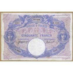 50 Francs bleu et rose 18-2-1908