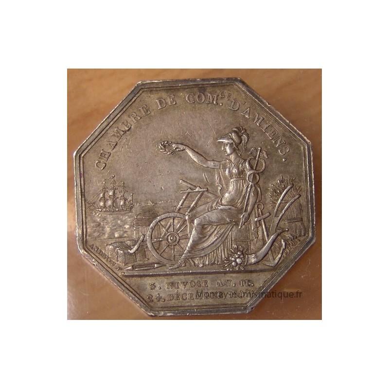 Jeton Chambre de Commerce du0026#39;Amiens 1804 - MONTAY NUMISMATIQUE