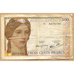 300 Francs 9-2-1939 lettre T