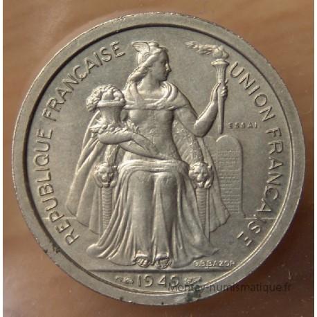 Polynésie-Française 2 Francs 1949 Essai Océanie Française