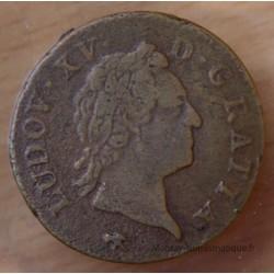 Louis XV Sol vieille tête 1772 D Lyon