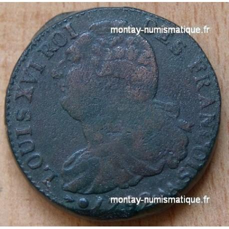 2 Sols François 1792 AA point sur AA