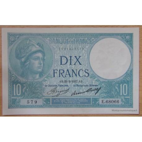 10 Francs Minerve 25-2-1937 Y.68066