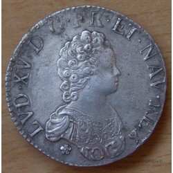 Louis XV Ecu Vertugadin 1716 D Lyon