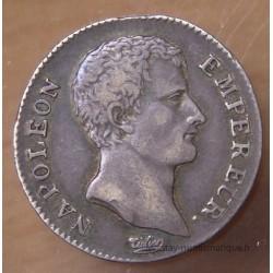 1 Franc Napoléon Empereur AN 13 H La Rochelle