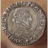 Henri III Quart de Franc Col plat 1591 M Toulouse
