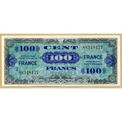 100 Francs Verso France Juin 1945 série 3