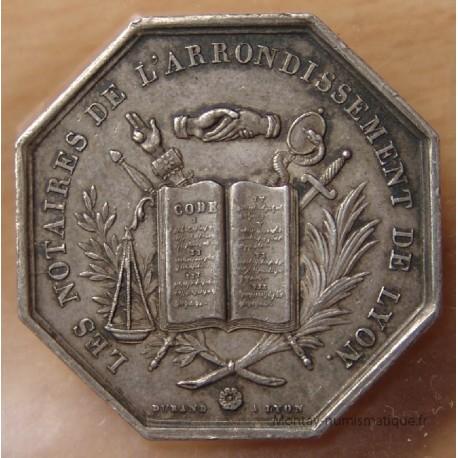 Jeton Notaires de Lyon 1839 Notaires du XIXe Siècle.