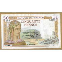 50 Francs Cérès 9-3-1939 R.9863