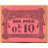 Algérie - Constantine 10 centimes 12 octobre 1915
