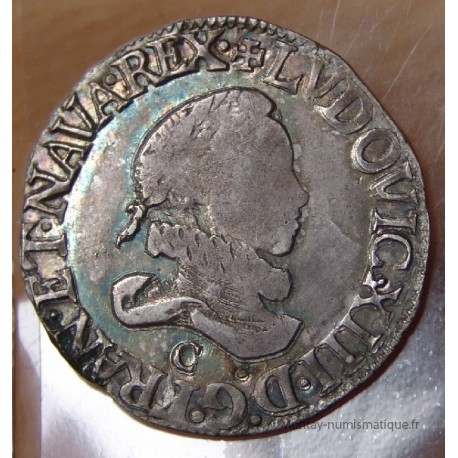 Louis XIII - 1/2 Francs col fraisé 1615 C Saint-Lô