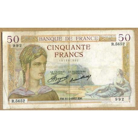 50 Francs Cérès 11-2-1937 R.5662