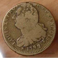 2 Sols François 1792 W pointé ARRAS