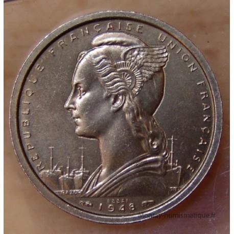AOF 2 Francs 1948 Essai - Afrique Occidentale Française
