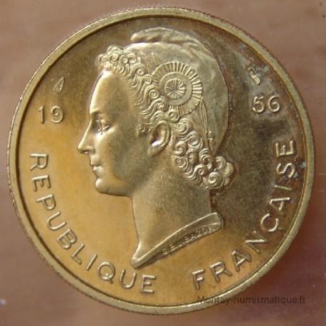 AOF 25 Francs 1956 ESSAI Afrique de l'Ouest