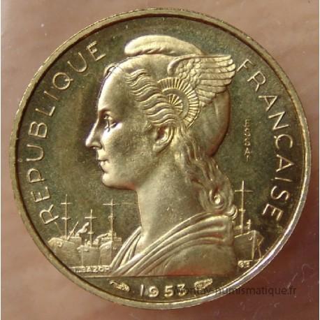 Madagascar 20 Francs 1953 Essai