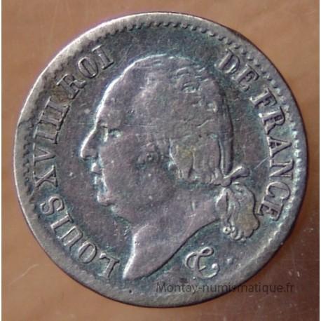 1/4 de Franc Louis XVIII 1824 L Bayonne