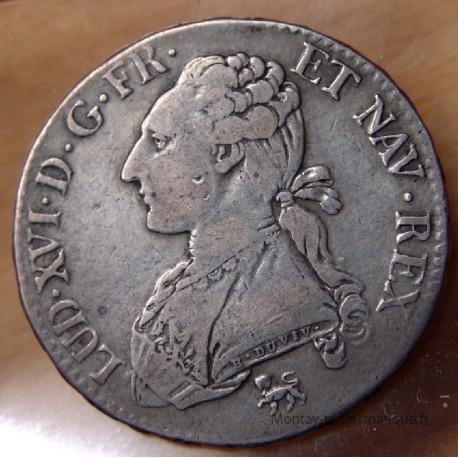 Louis XVI 1/2 Ecu buste habillé 1792 A pointé var 2/1