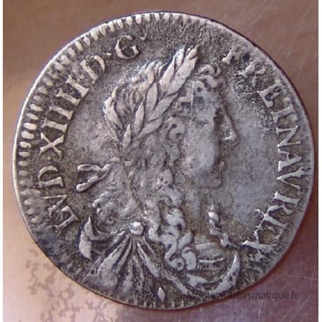 Louis XIV 1/12 eme Ecu Buste Juvénile 1660 Aix