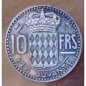 Monaco 10 Francs 1950 Rainier III essai argent