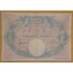 50 Francs bleu et rose 5-12-1911