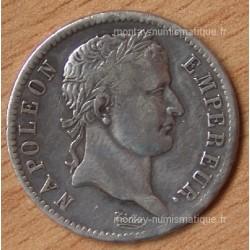 1 Franc Napoléon I République 1808 W Lille
