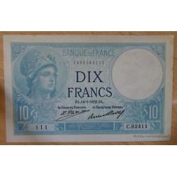 10 Francs Minerve 14-1-1932