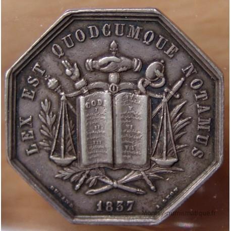 Jeton Notaires de Vienne 1837 (38 - Isére)