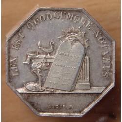 Jeton Notaires d'Auxerre 1838
